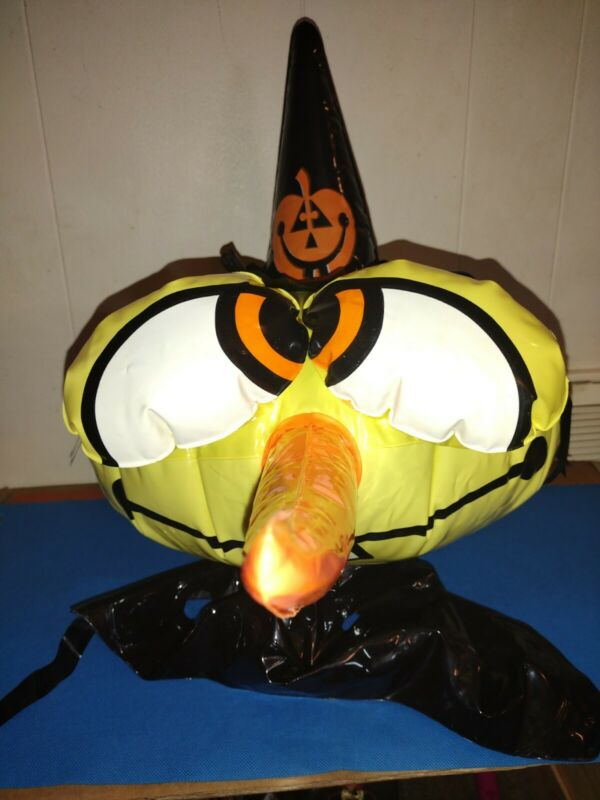 vintage KOOKY SPOOKS WONDER WITCH blow-up Halloween costume HAT ONLY