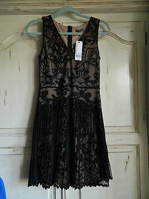 New Warehouse twenties style dress, black lace, pleated, size S small](Twenties Dress)