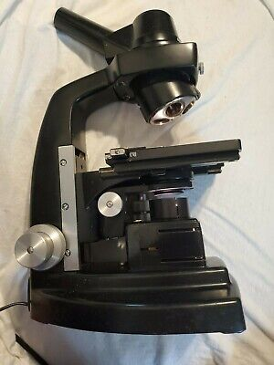 Bausch Lomb Academic Monocular Compound Microscope Heavy Lighted