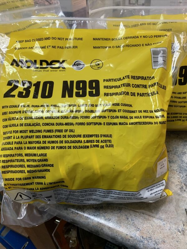 Moldex 2310 N99 Sealed Bag of 10, NIOSH Grade 99, Made in USA - Sealed Brand New
