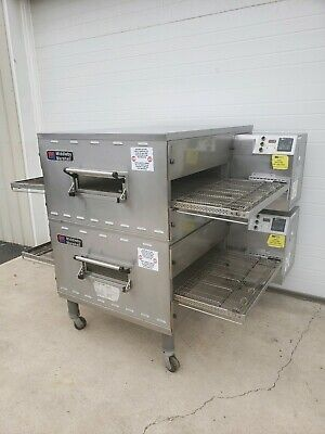 Middleby Marshall Ps640g Double Stack Gas Conveyor Ovens 32 Belt Width