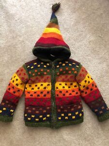 Fair trade hand knit jacket size 3-4