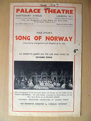 1946 Palace Theatre Programme: Emile Littler's SONG OF NORWAY