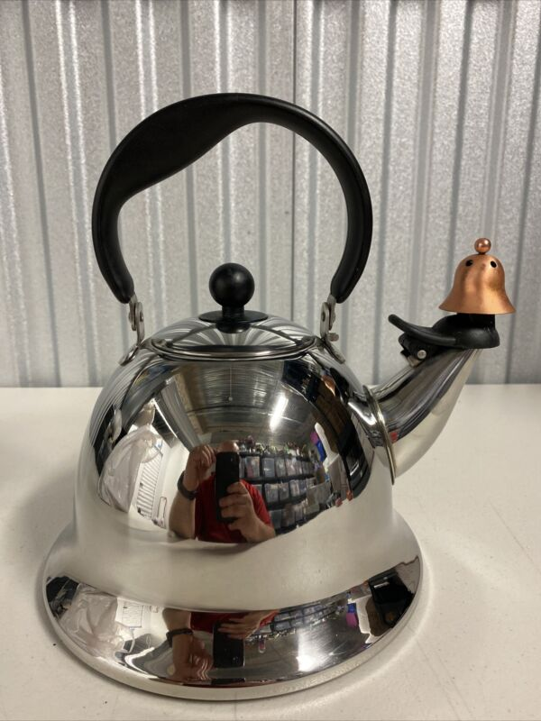 "Michael Graves ""Bells and Whistles"" Stainless Steel Teapot Kettle"
