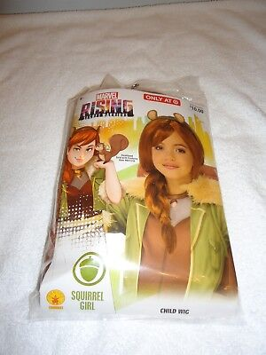 NEW RUBIES MARVEL RISING SECRET WARRIORS SQUIRREL GIRL CHILD WIG](Secret Squirrel Halloween Costume)