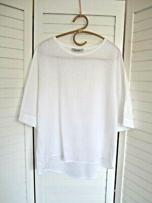 Worn Once-JAC+JACK - White Linen Crisp,Oversize T-Top/Blouse - Sz L+