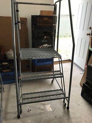 Rolling Platform Ladder 2 Foot 6 Inch High
