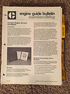 Caterpillar Engine Guide Bulletin Merchandising Lot With Subject Tabs