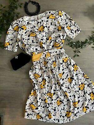80s Dresses | Casual to Party Dresses Genuine ~VINTAGE~ 1980s BOLD BRIGHT 'Daisy' Dress BELT SZ12  $37.88 AT vintagedancer.com