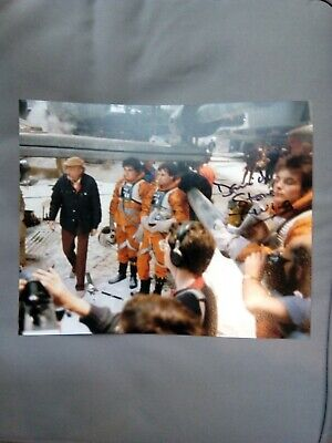 David Stone X wing Pilot Empire Strikes Back signed photo. STAR WARS