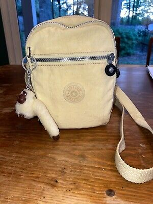 KIPLING- Crossbody Purse With Monkey- PALE YELLOW