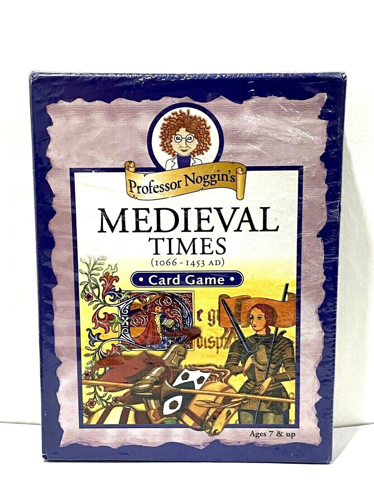 Professor Noggin s Medieval Times 1066 - 1453 AD Card Game Ages 7  - $14.99