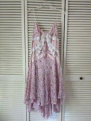 Vintage D&G Dolce & Gabbana Silk Lace Chiffon Slip Dress Size 46 IT NWT