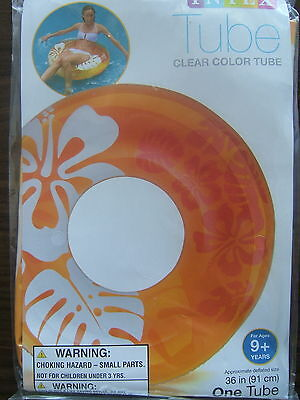 INFLATABLE Swimming Pool ORANGE CLEAR COLOR FLOWER 36
