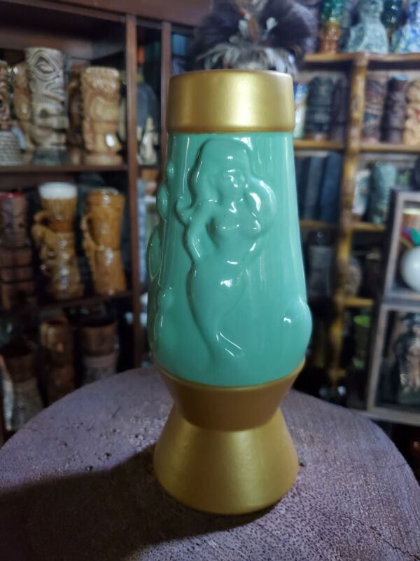 Green Lava Vamp Tiki Mug By Thor Lava Lamp Mermaid Tiki Farm Mug SOLD OUT 2018
