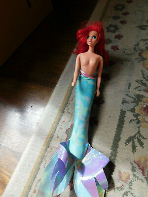 "Vtg 1997 Rare Disney Princess The Little Mermaid Swimming Ariel Doll 16"" w tail"