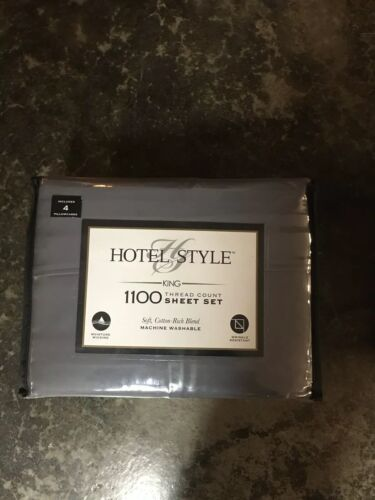 HOTEL STYLE SOFT SILVER KING 1100 THREAD COUNT SOFT COTTON R