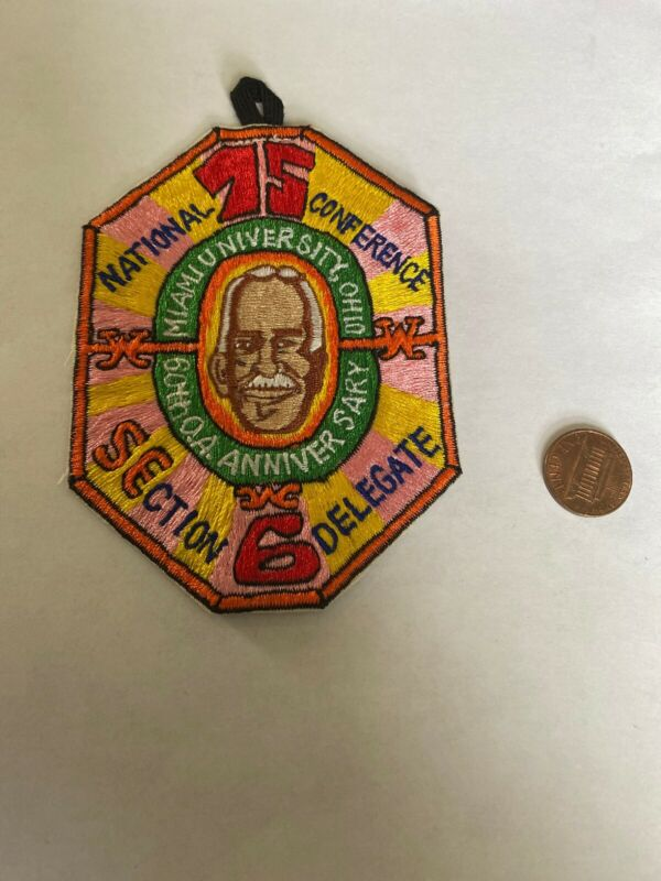 1975 NOAC Delegate Patch SE-6 National Order of the Arrow Conference 23-332M