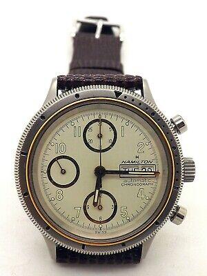 Vintage Hamilton 9446 Chronograph Wrist Watch ~Valjoux 7750~