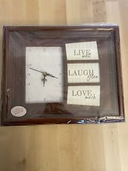 Live Laugh Love Plaque Collage Photo Picture Frame Clock Home Wall Art Decor