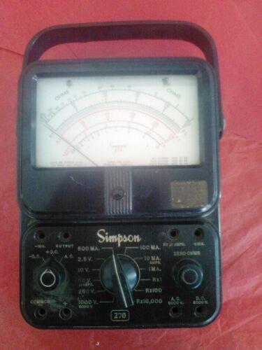 Simpson model 270 VOM