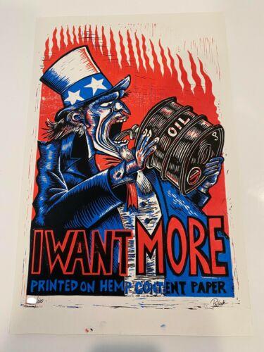 Jim Pollock I Want More print Hemp Series Signed Numbered Phish Junta