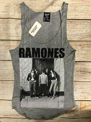 Ramones-band (NWT woman Ramones Band Shirt Sleeveless British Punk Heather Gray Tank Top *S-L)