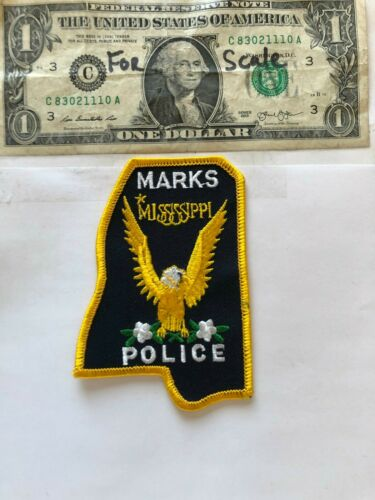 Very Rare Marks Mississippi Police Patch Un-sewn great condition