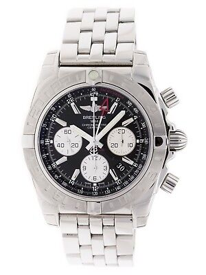 Breitling Chronomat 44 GMT AB0420 Black Dial Pilot Bracelet Watch AB042011/BB56 ()