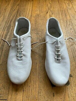Brand New Crown Northampton Regent Wholecut Jazz Shoe in White Leather
