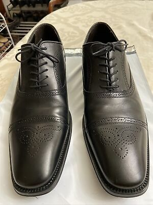 "To Boot New York ""Adam Derrick"" Black CapToe Oxford Shoes Italy Men Sz 11.5 GUC"