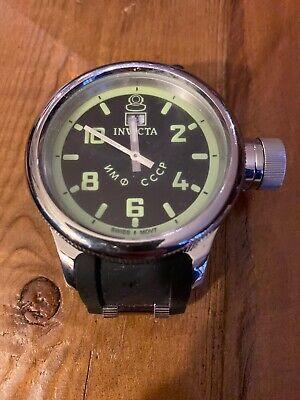 RARE Men's Invicta Diver's Watch Swiss Chronograph Russian CCCP 1959 Diver #4342