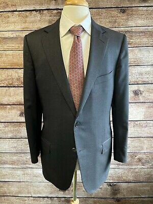 Ermenegildo Zegna Solid Gray Multiseason Wool Suit Jacket Size 42R Blazer