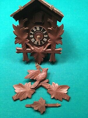 VINTAGE GERMAN CUCKOO CLOCK FOR PARTS OR REPAIR PROJECT
