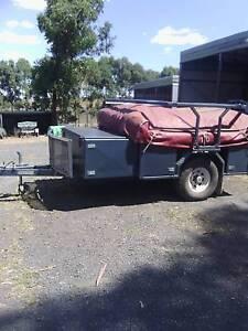 Tru Blu Eagle Full Off Road Camper Trailer with Boat Loader Coleraine Southern Grampians Preview