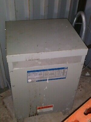 General Electric Transformer 15 Kva 3 Phase 480 208 120 Volts