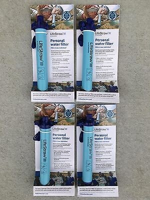 Lot of 4 Lifestraw Personal Water Purification System Filters NEW