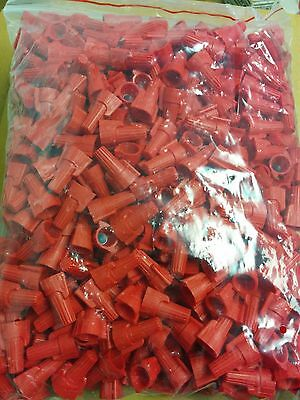 (500 pc) P13 Red Winged Nut Screw-On Wire Connectors Twist-On BAG lot 8-18 AWG