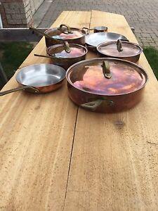 Copper pot set trade me...