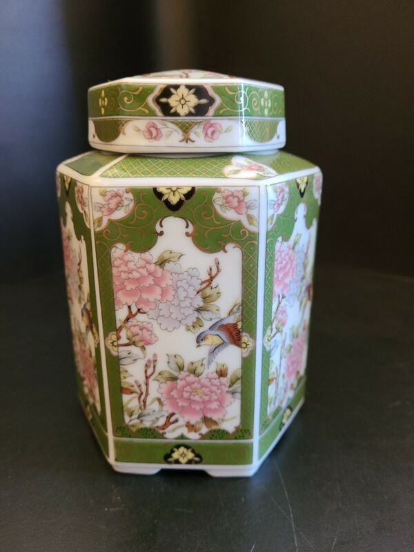 Vintage Japanese Porcelain Tea Jar Perfect Condition.