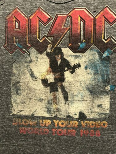 AC/DC BLOW UP YOUR VIDEO WORLD TOUR 1988 SHIRT, SLEEVELESS, THIN, LARGE