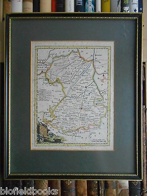 Antiquarian Map; CAMBRIDGESHIRE - Thomas Kitchin - c1750 - Mounted Framed/Glazed