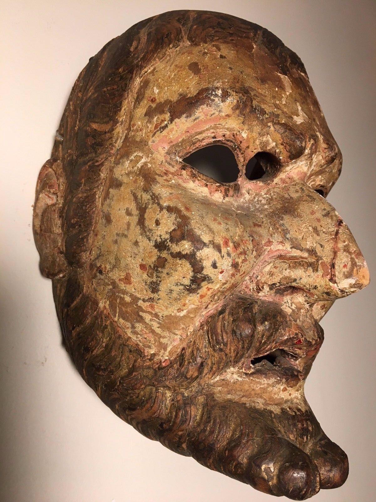Antique, 19th Century, Ethnographic, Wooden/Wood Mask Guatemala (Guatemalan)
