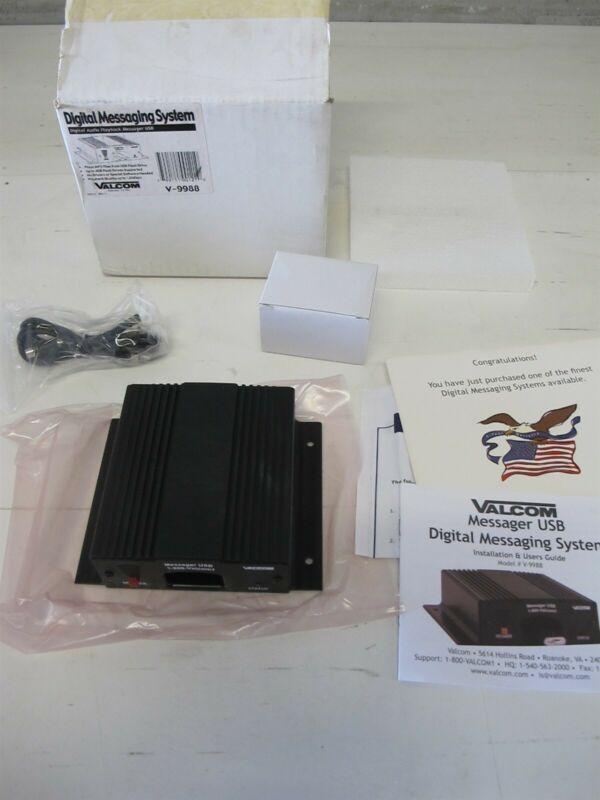 Valcom V-9988 USB Music-On-Hold Digital Messaging System