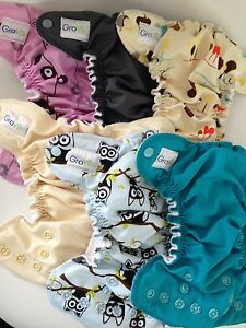 6 newborn all in one cloth diapers GroVia