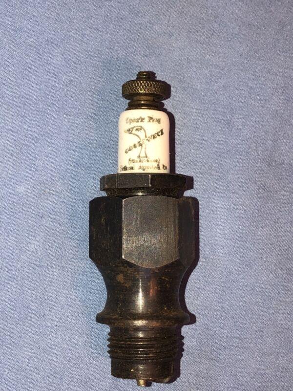 GOOSE NECK Logo Vintage Antique Spark Plug