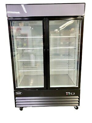 New Freezer 2 Double Door Glass Front Reach In Freezer Frozen Food Merchandiser