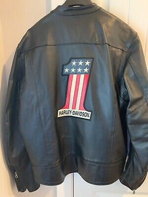 Harley Davidson Mens Xl #1 Willie G Made In America Leather Jacket