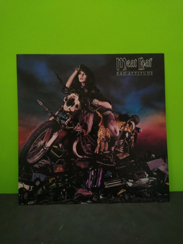 Meat Loaf Bad Attitude LP Flat Promo 12x12 Poster