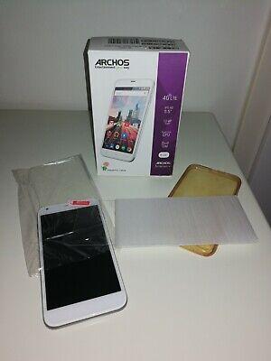 ARCHOS 55 Helium+, 8GB, Dual SIM, Quad Core CPU, weiß Smartphone, NEU,